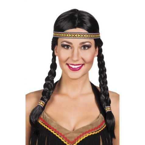 Perruque indienne avec nattes