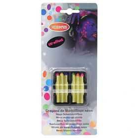 Boite de 6 Crayons gras fluo