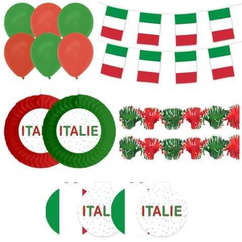 Déco vitrine aux couleurs de l'Italie
