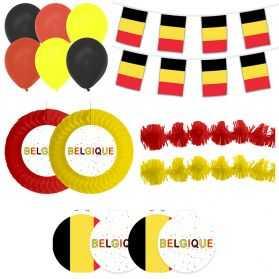 décorations vitrine aux couleurs de la Belgique