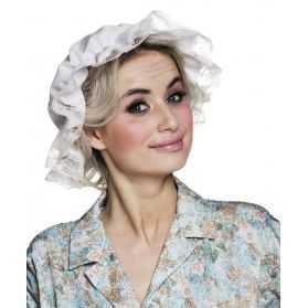 Bonnet Blanc de Nuit en forme de Charlotte