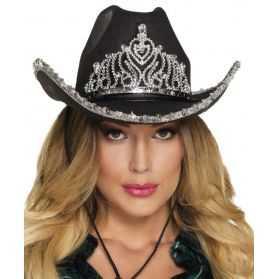Chapeau noir Cowgboy adulte