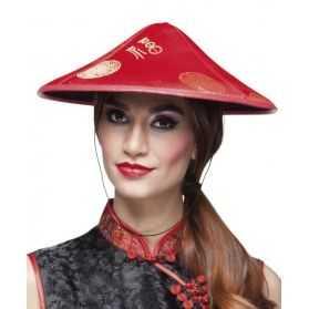 chapeau déguisement femme chinoise