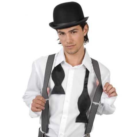 Chapeau déguisement Chapeau melon et bottes de cuir