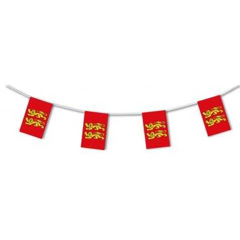 Guirlande à fanions drapeau de la Normandie