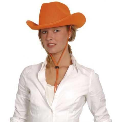 Chapeau cowboy orange