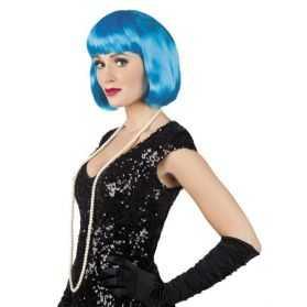 Perruque femme bleue pour soirée Cabaret