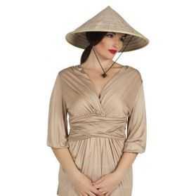 Chapeau de paille de Marchand asiatique