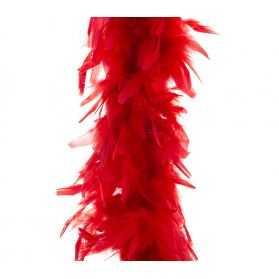 Boa rouge à Plumes