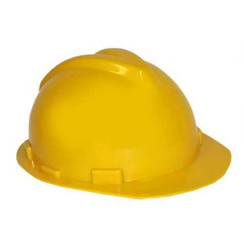 Casque jaune pour se déguiser en chef de chantier
