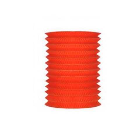 Lampion papier cylindrique rouge