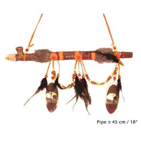 Calumet de la Paix Indien avec plumes