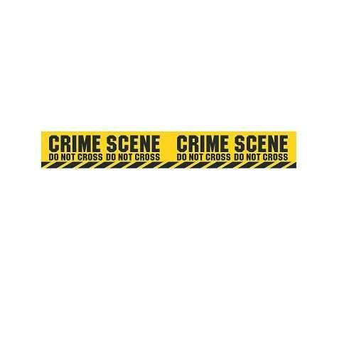 Ruban jaune et noir Scène de Crime