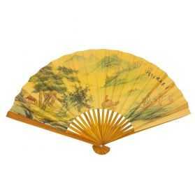 Eventail Chinois en papier décoré