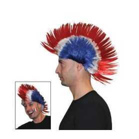 Perruque de Punk Supporter des Bleus