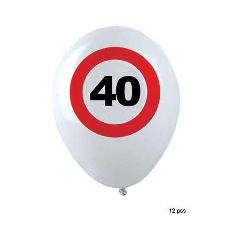 Sachet de Ballons anniversaire 40 ans
