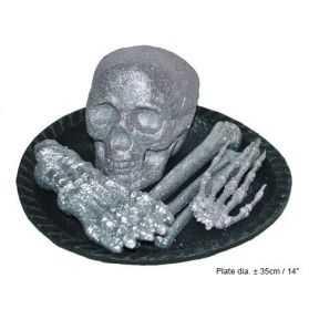 décor de table halloween avec crâne