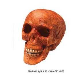 Crâne de squelette avec yeux lumineux