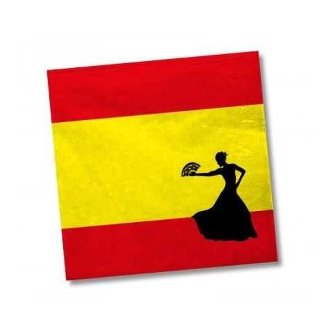 Serviettes en papier drapeau espagnol