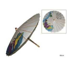 Grande Ombrelle Chinoise à motifs décorés 60cm