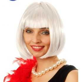 Perruque Cabaret cheveux blancs