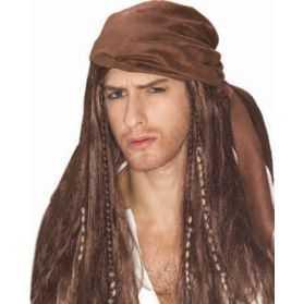 Perruque pour se déguiser en Pirate des Caraïbes