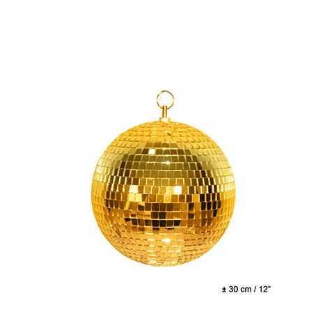 Boules à facette dorée
