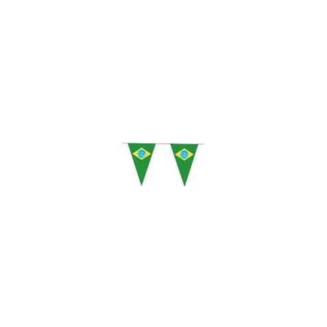 Guirlande avec drapeaux du Brésil