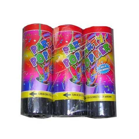3 petits canons à confettis