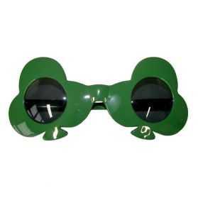 Lunettes Vertes en forme de Trèfle vert