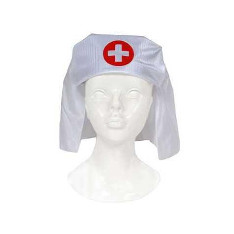 Coiffe d'Infirmière avec croix rouge