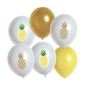 5 ballons gonflables Ananas