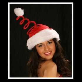 Bonnet de Père Noel à ressort
