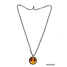 Pendentif avec sigle Peace and Love