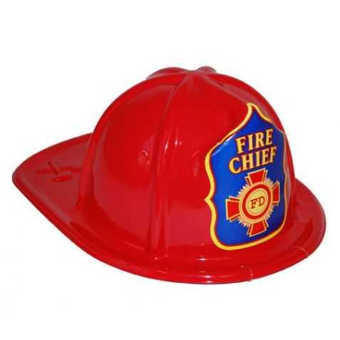 Casque Rouge de Pompier pour Enfant