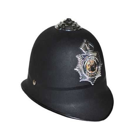 Casque avec badge Policeman anglais