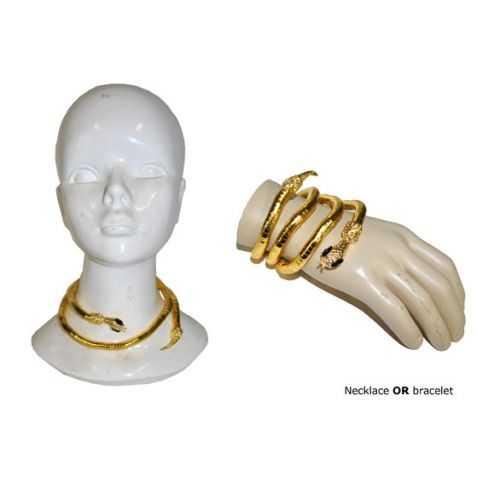 Bracelet Egyptien en forme de Serpent doré