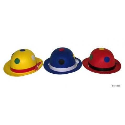 1 Chapeau Melon de Clown pour Enfant