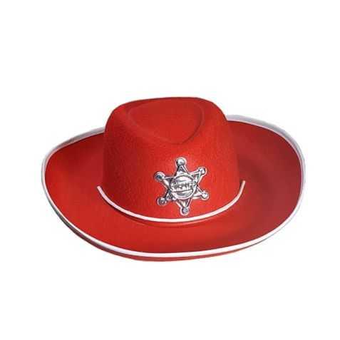 Chapeau Cow boy enfant rouge
