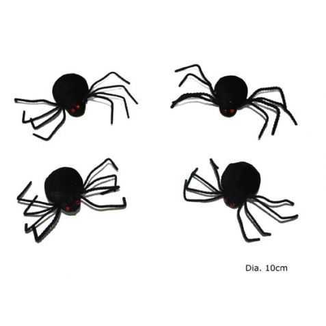 Figurines araignées noires
