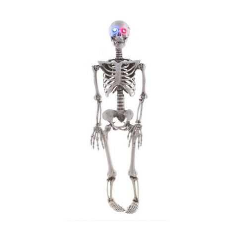 squelette avec des yeux lumineux