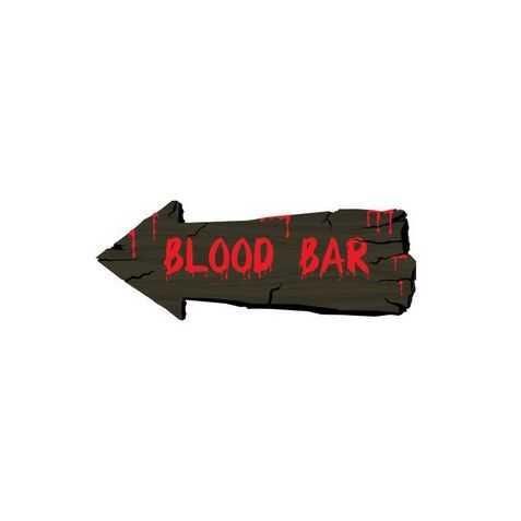 Flèche indication Bar à Sang