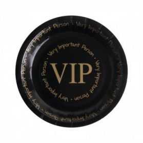 8 assiettes VIP en carton
