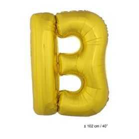 Ballon en forme de Grande Lettre B Dorée