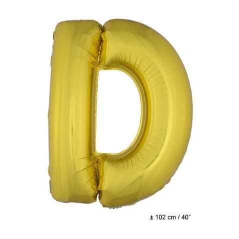 Ballon en forme de Grande Lettre D Dorée