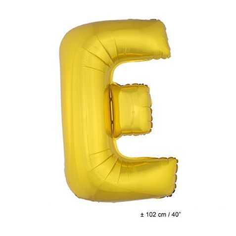 Ballon en forme de Grande Lettre E Dorée