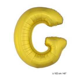 Ballon en forme de Grande Lettre G Dorée