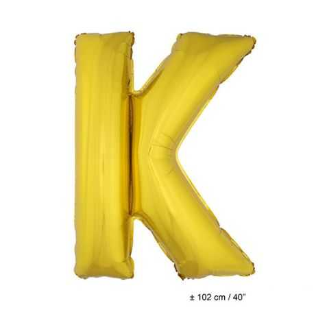 Ballon en forme de Grande Lettre K Dorée