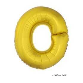 Ballon en forme de Grande Lettre O Dorée