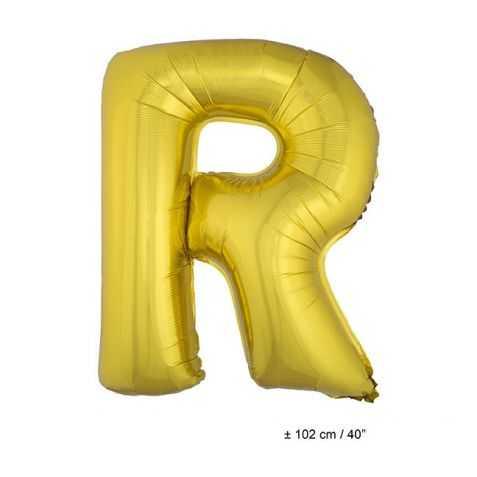 Ballon en forme de Grande Lettre R Dorée